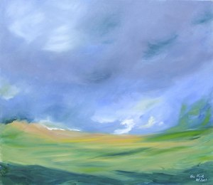 CATTERLINE LANDSCAPE I. Oil on canvas, 100 x 120cm. Available for sale