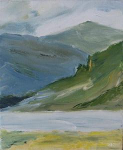 MUICK VALLEY NEAR QUEEN VICTORIA'S HUNTING LODGE. Oil on canvas, 25 x 18cm. Private collection