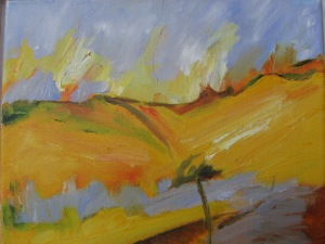 SAUSSIGNAC 2012. Oil on canvas, 26 x 30cm plus frame. Private collection