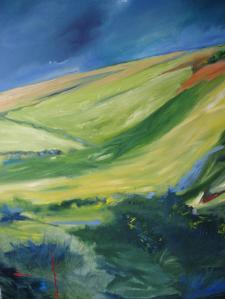 SCOTTISH LANDSCAPE. Oil on canvas, 122 x 92cm. Available for sale