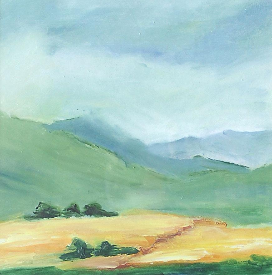 YOUNTSVILLE CALIFORNIA. Oil on canvas 30 x 30cm mounted, glazed + ...